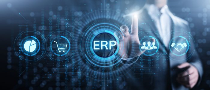 ERP Enterprise resources planning system software business technology